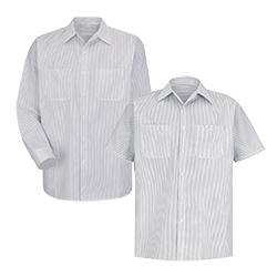 Stripe Industrial Work Shirt