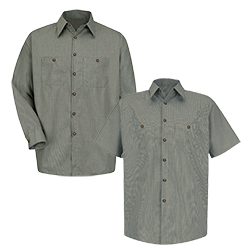 Micro-check Industrial Work Shirt